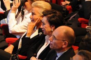 Silvia Monti De Benedetti Monica Mondardini ed Enrico Letta