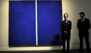 Barnett Newman Another Record Setting Sothebys Art Auction Barnett Newman Painting Emmanuel DunandAgence France Presse Getty Images x
