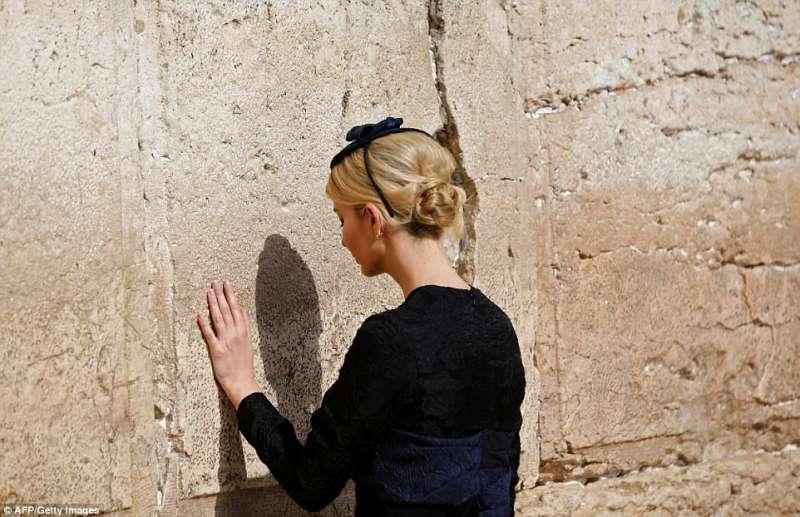 ivanka trump al muro del pianto
