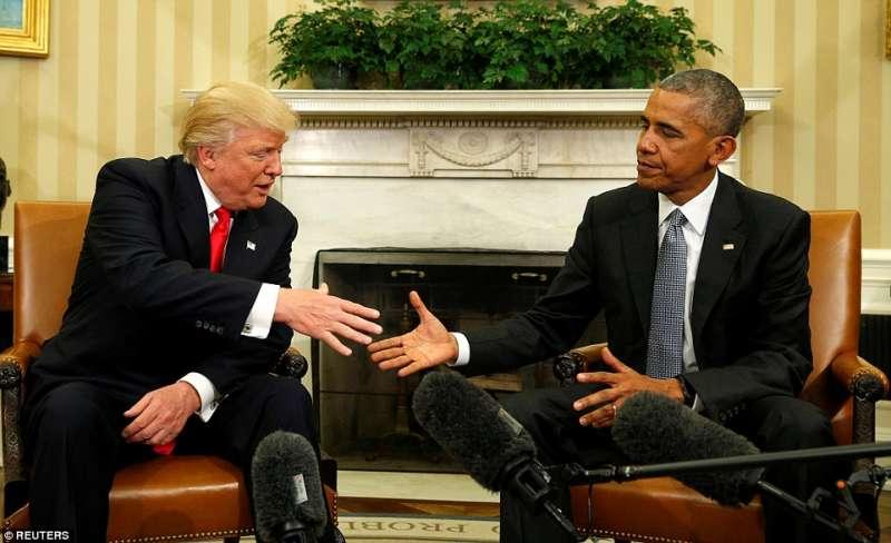 trump e obama alla casa bianca