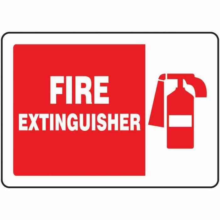 safety sign fire extinguisher