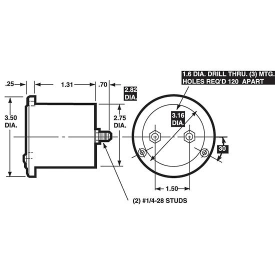 Simpson 25A 00060 Analog Panel Meter 3 5 Round 0 10 ADC
