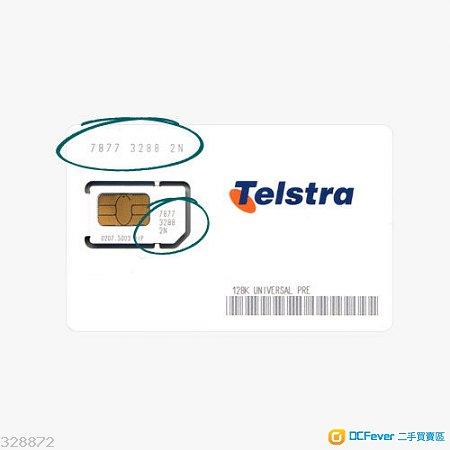 澳洲 2GB 電話數據上網卡 Australia Telstra 3G 4G LTE Micro SIM Card Optus