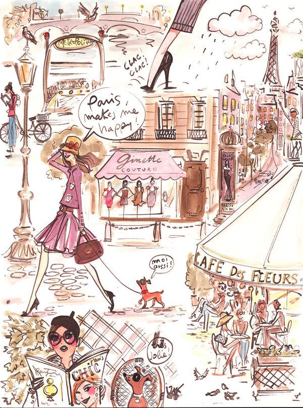 Paris Makes Me Happy By Izak DecalGirl
