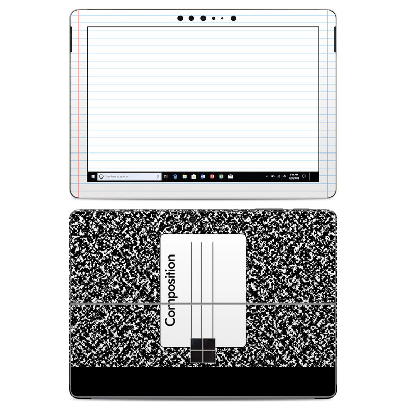 Girl And Marble Wallpaper Microsoft Surface Go Skin Composition Notebook By Retro