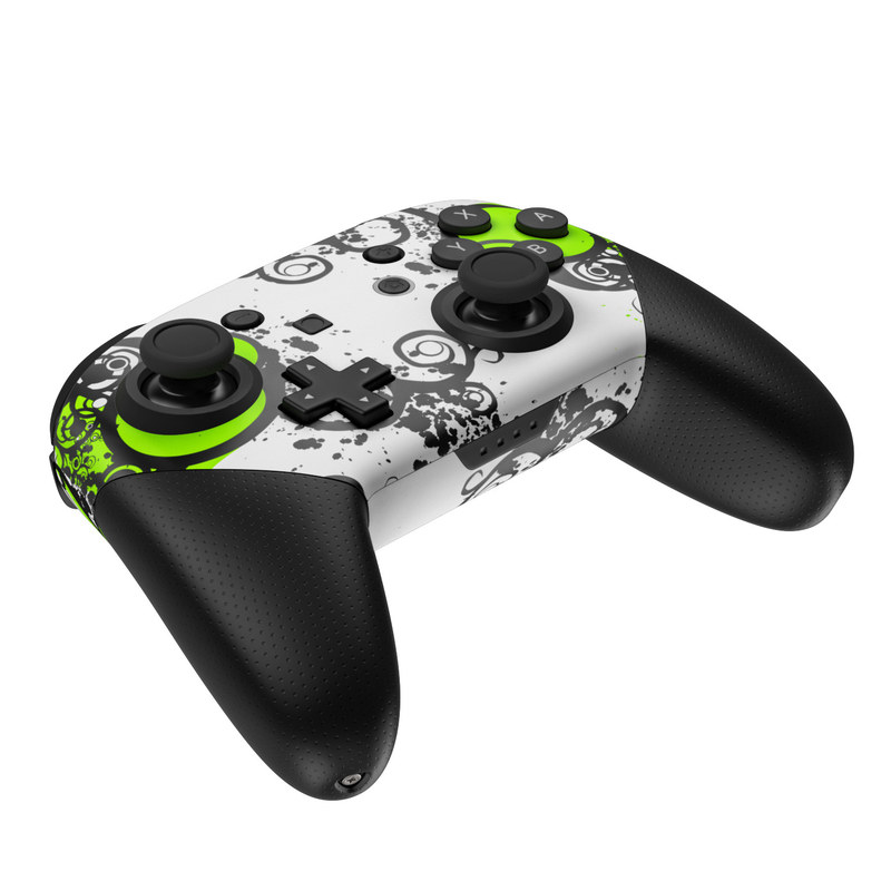Nintendo Switch Pro Controller Skin - Simply Green by Gaming   DecalGirl