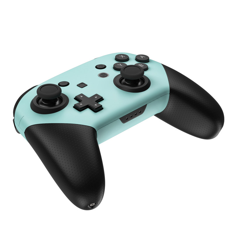 Nintendo Switch Pro Controller Skin - Solid State Mint by Solid Colors   DecalGirl