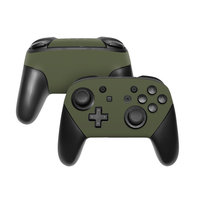 Nintendo Switch Pro Controller Skin - Solid State Olive Drab by Solid Colors   DecalGirl
