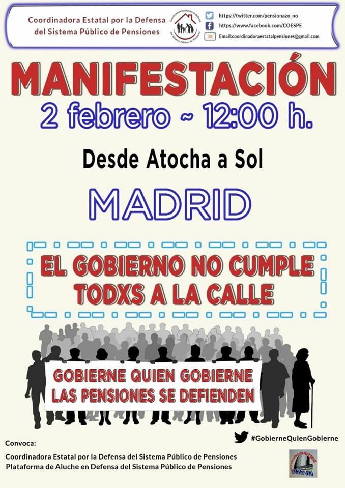 manifestacion pensiones madrid