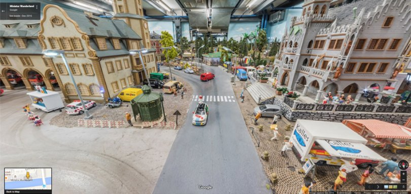 model rail train google street view maps miniatur wunderland hamburg 5 - Você sabia que é possível ver o Mini Mundo pelo Google Street View?