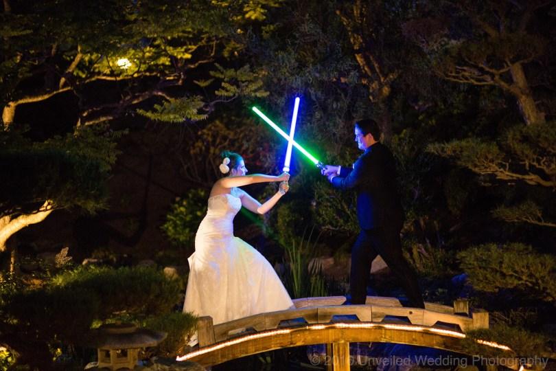 5df743d696b64 star wars wedding cory carrie shields 50 - Casal teve um casamento com o tema Star Wars