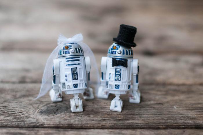 5df743d7edc26 star wars wedding cory carrie shields 5df232178e248  700 - Casal teve um casamento com o tema Star Wars