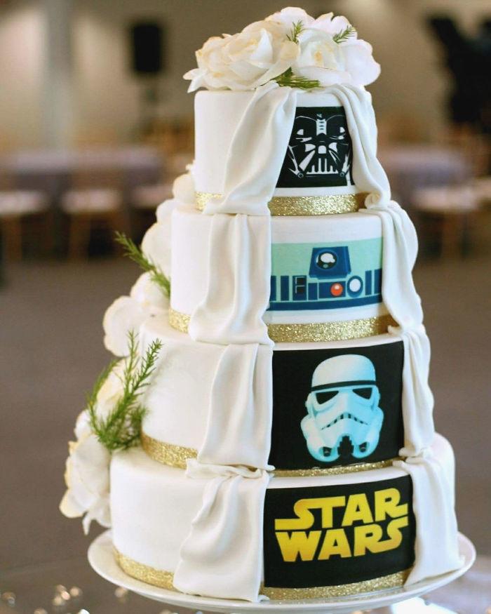 5df743d947925 star wars wedding cory carrie shields 5df234b84b080  700 - Casal teve um casamento com o tema Star Wars