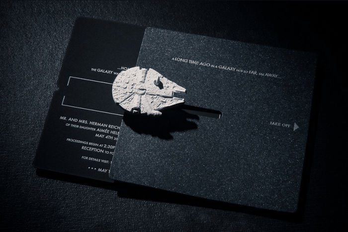 5df743d9c0440 star wars wedding cory carrie shields 5df236673f886  700 - Casal teve um casamento com o tema Star Wars
