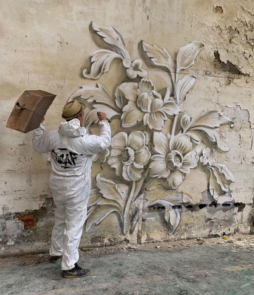 5ef59f1426e6e The graffiti of this French street artist seems to come alive and come off the walls 5ef33ff929534  880 - Os grafites em 3D de Scaf