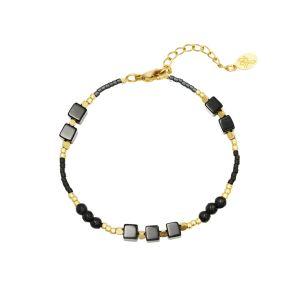 Armband All Natural Goud met Zwart