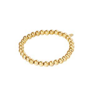 Armband Big Beads Goud