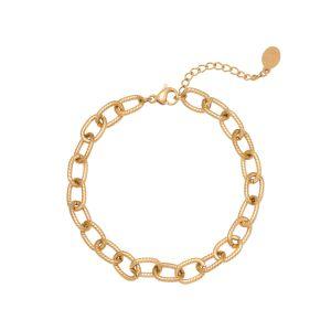 Armband Chiseled Chain Goud