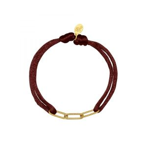 Armband Satin Chains Bruin