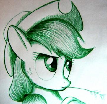Applejack Pen Sketch by Names76