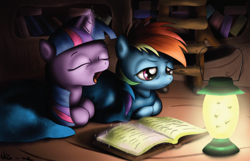 Late night reading by Neko-me