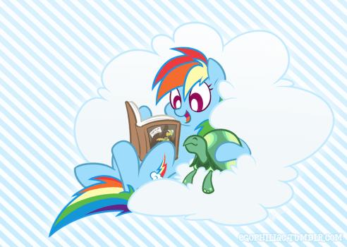 Reading Rainbow by egophiliac