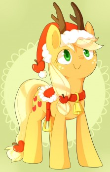 Xmas Applejack by aosion