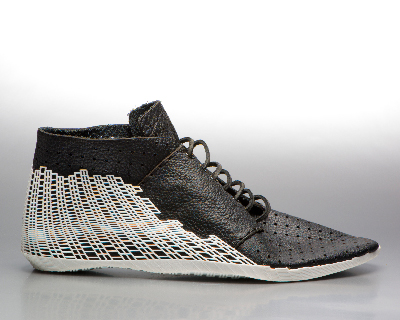 leather meets 3D printing in the bits shoe by earl stewart