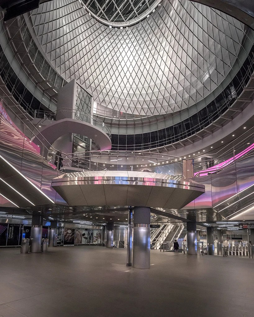pygmalion karatzas photographs grimshaw and arup's fulton center transit hub in new york