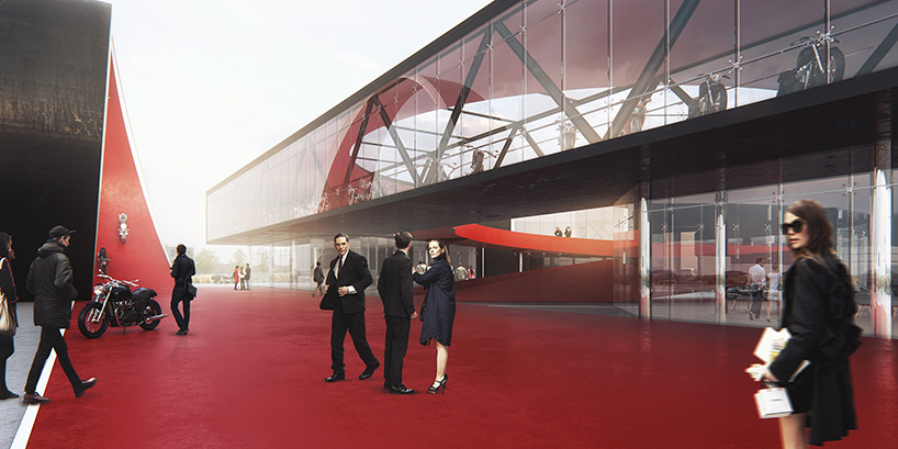 8D architects develops conceptual motocenter complex in crimea