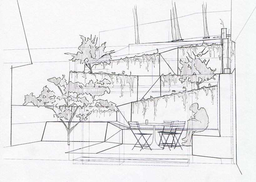 barensfeld architecture ramps hilgard garden terrrace in