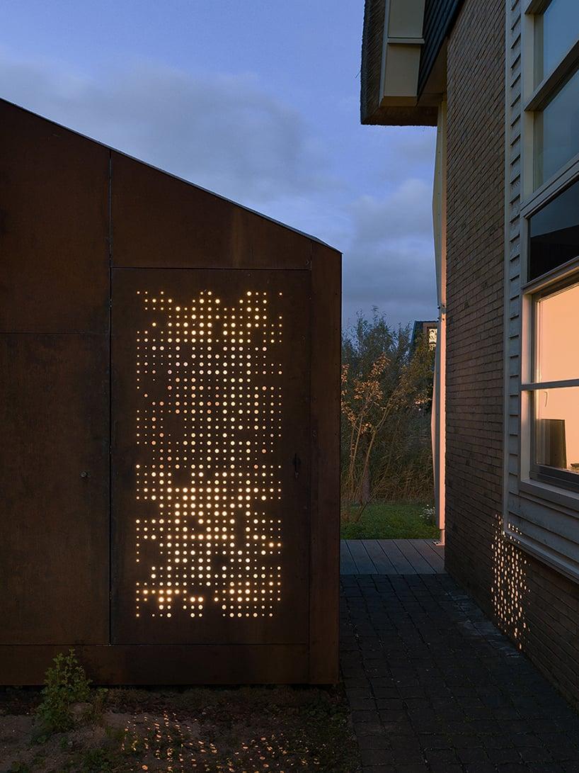 serge schoemaker builds a sculptural home studio of weathering steel in hoofddorp designboom