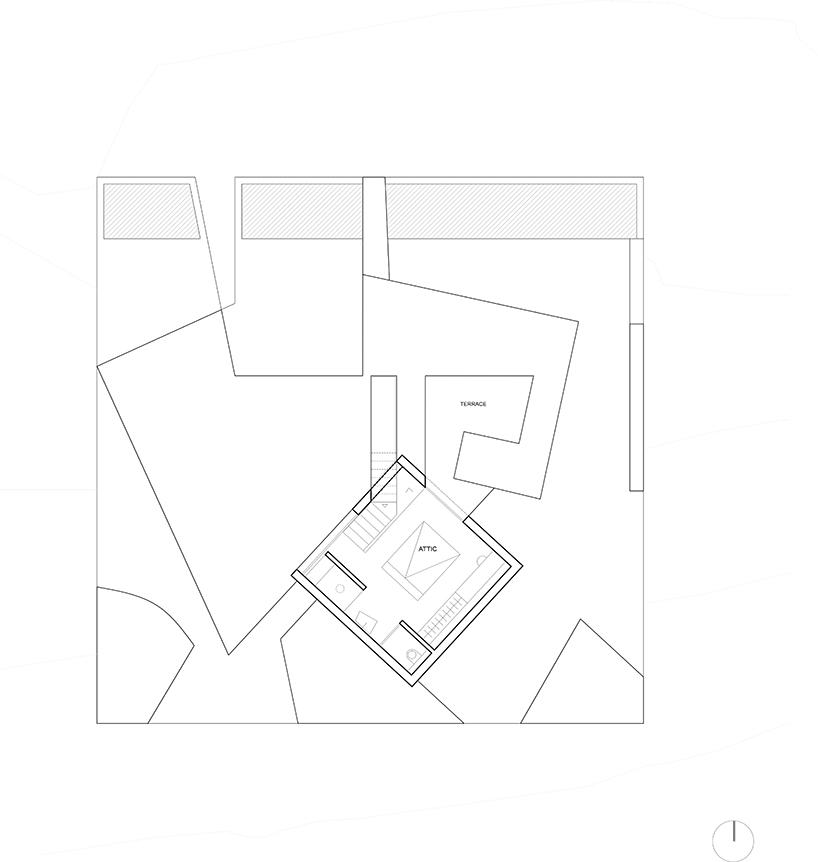 kapsimalis architects' monolithic residence resembles a