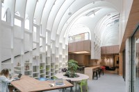yuan architects' multifunctional coworking features white ...