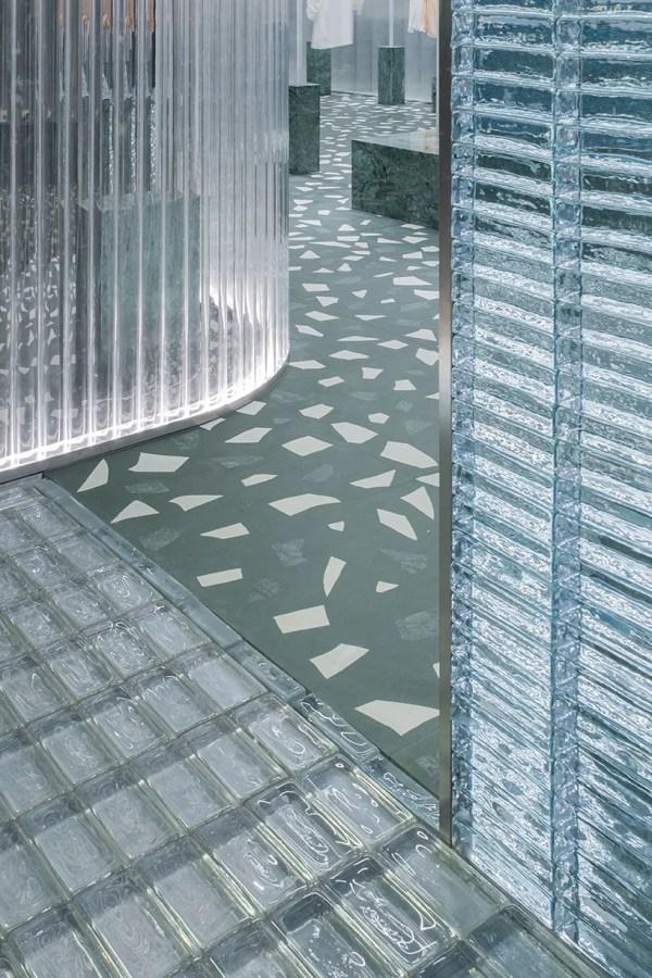 Studio 10 Fuses Green Terrazzo With Glass Concept