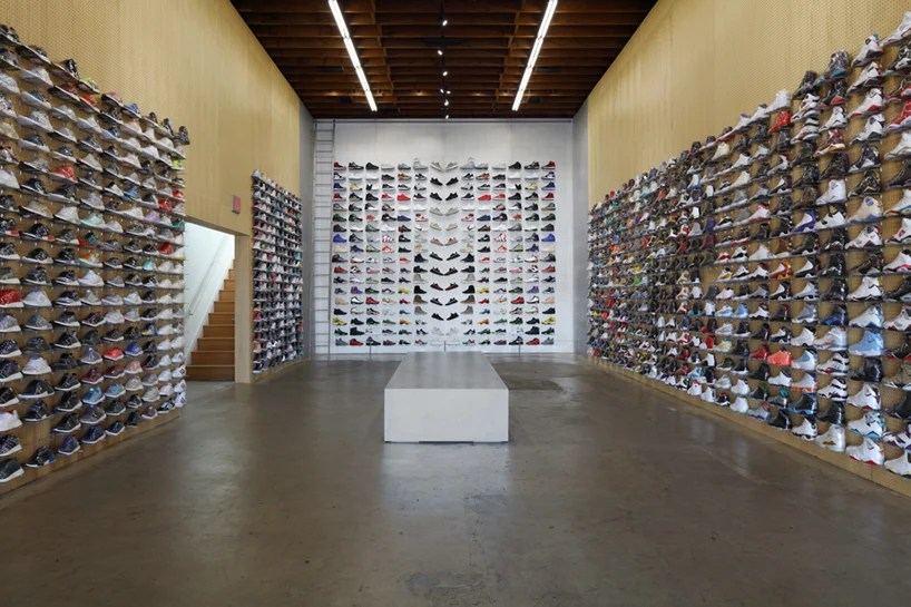 Flight Club In La Only Has Product Display And A Bench By