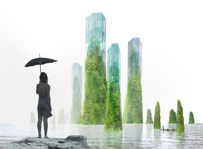 XTU architects proposes green covered skyscrapers in the bay of shenzhen, china designboom