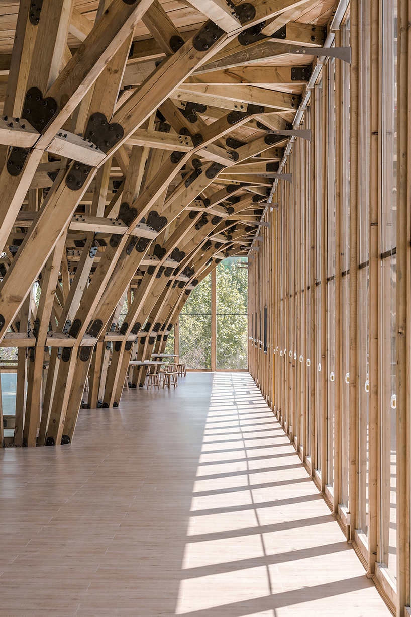 luo studio's timber structure in china can be completely dismantled and reused