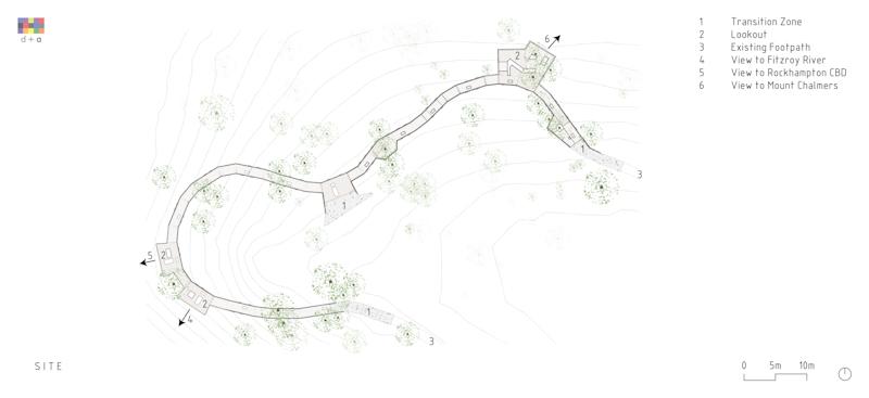 architects install prefabricated observation boardwalk on