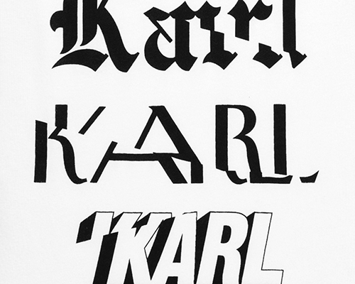 karl lagerfeld x ilovedust: clothing and murals