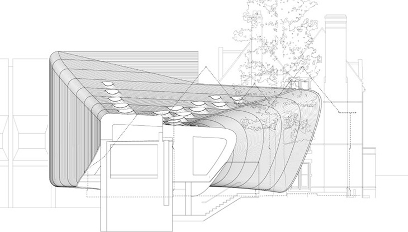 middle east center bridge building in oxford by zaha hadid