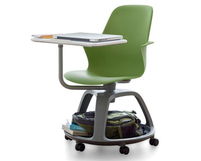 wheeled beach chair wrought iron dining table and chairs node school desk by ideo steelcase
