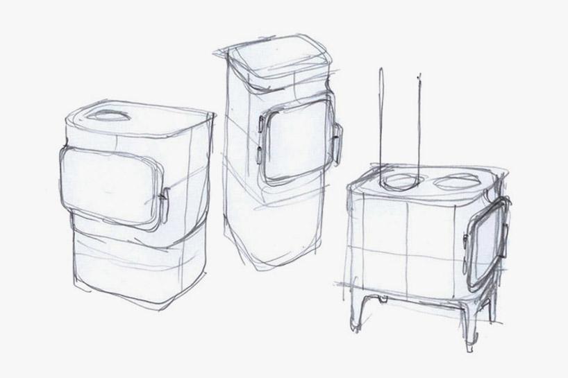 anderssen & voll crafts sleek cast iron stove for jotul