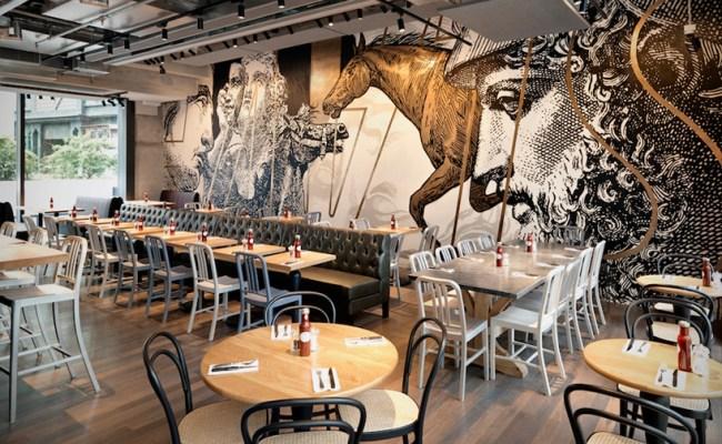Beef Liberty Restaurant In Hong Kong Features Wall Art