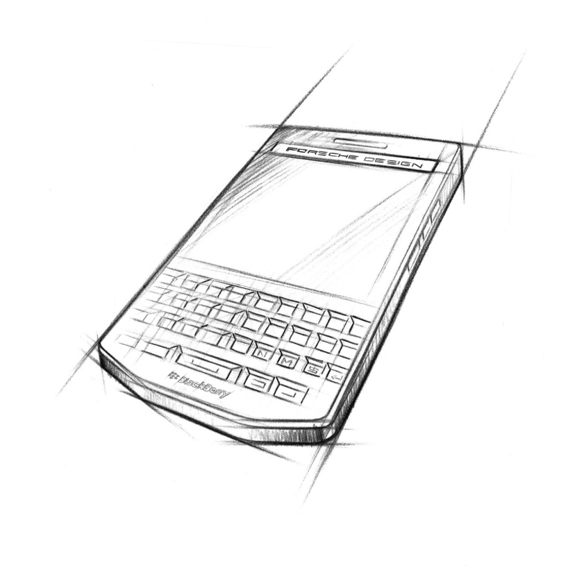 porsche design blackberry P'9983 smartphone reflects