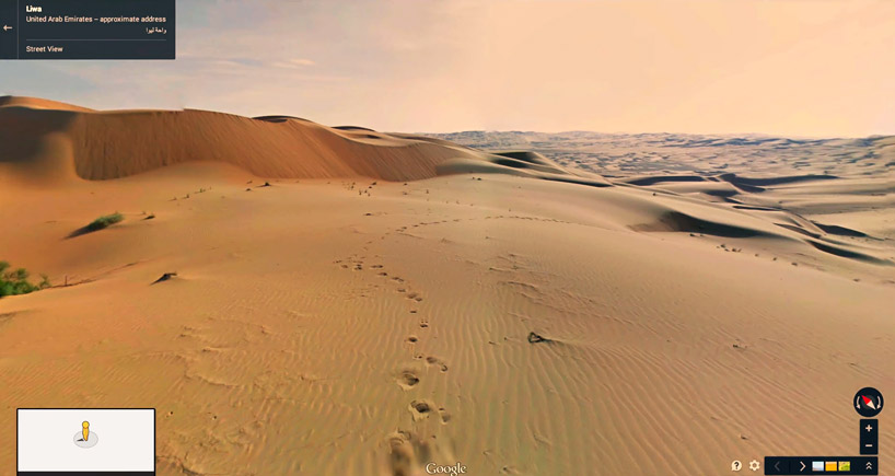google hires camel to film liwa desert 'street' view