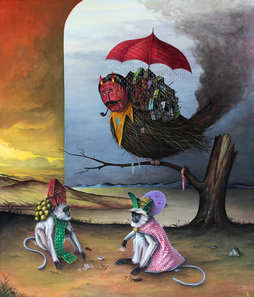 the alchemy magic  occultism of el gato chimneys surreal painted scenes