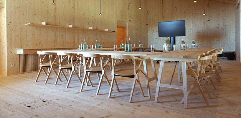 chair design bd swingasan hanging konstantin grcic s b furnishes herzog de meuron swiss barcelona designboom bbb