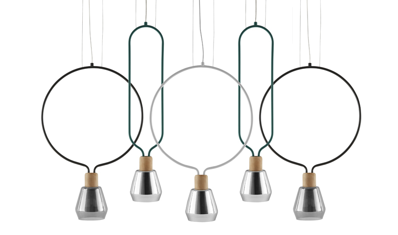 sovrappensiero's agata lamps for milan-based incipit
