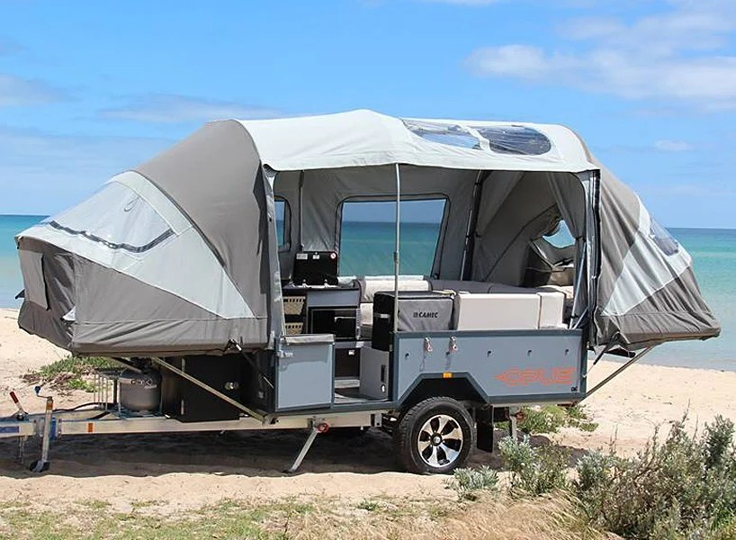 the air OPUS camper goes from trailer to tent in sub 90 seconds